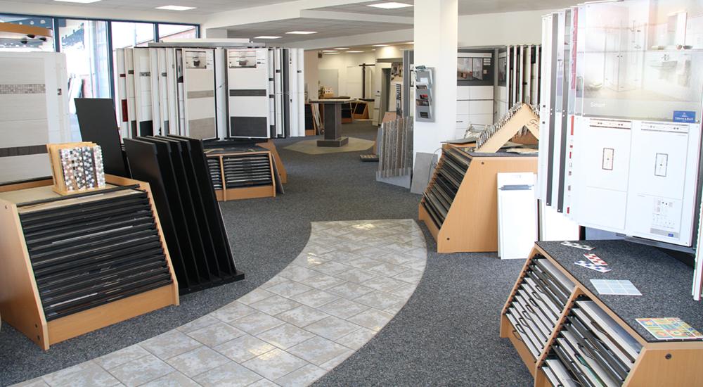 Fliesen Lindenschmidt - Unsere Ausstellung am Haupteingang